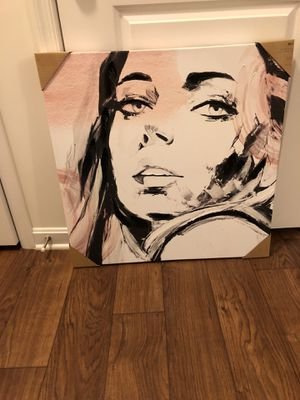 Pink Girl Model Canvas Picture for Sale in Salisbury, MD