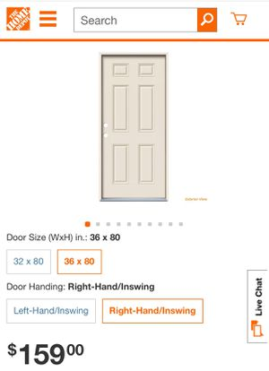 36 in. x 80 in. 6-Panel Primed Steel Prehung Right-Hand Inswing Front Door for Sale in Irving, TX