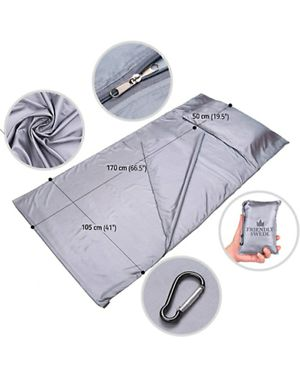 The Friendly Swede Sleeping Bag Liner - Travel and Camping Sheet, Pocket-Size for Sale in Riverside, CA