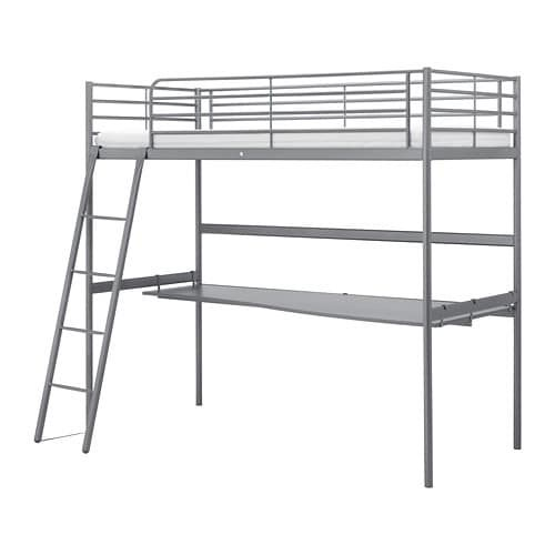 IKEA bunk bed with desk under