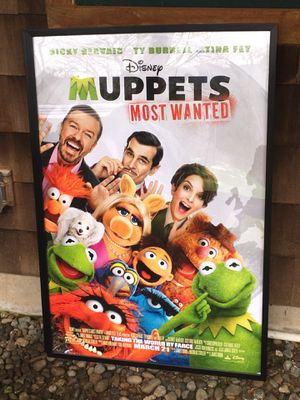 Authentic Movie Theater Promotional Poster - Disney Muppets Most Wanted for Sale in Issaquah, WA