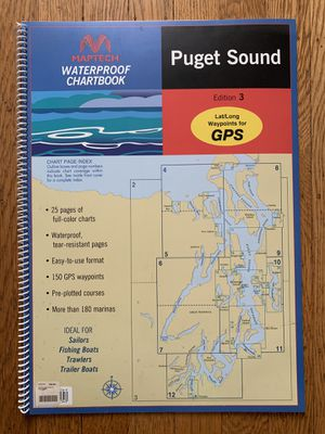 Puget Sound Waterproof Nautical Sailing Charts for Sale in Seattle, WA