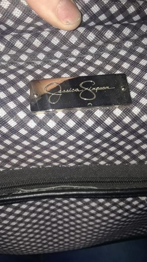 "Jessica Simpson Luggage 20"" Rolling Duffel Bag Black and white gingham NWT for Sale in Glendale, AZ"