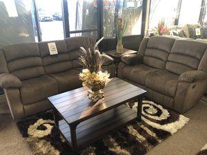 2pc Reclining Sofa set- Sala Reclinable 2pc @ Elegant Furniture for Sale in Fresno, CA