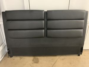 King size leather bed frame + mattress for Sale in Los Angeles, CA