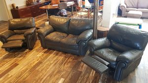 REAL Leather Recliner &/OR Loveseats! 2 Loveseats + 2 Recliners Avail. Together or separate. for Sale in Palm Beach, FL