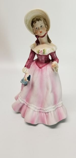Vintage/Mid Century Lamour Hand Painted Bisque Porcelain Victorian Figurine for Sale in Mesa, AZ