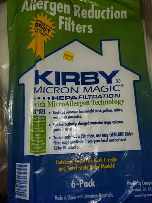 Kirby Allergen Reduction Filter Bag (NOT A SIX PACK IT'S JUST 1 SINGLE BAG! for Sale in Renton, WA