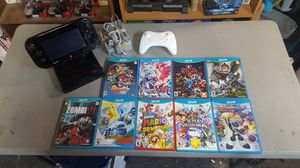 Nintendo Wii U complete w/9 games 2 controllers and cables for Sale in Rancho Cucamonga, CA