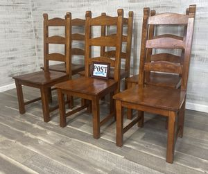 Set of 6 Heavy Dining Chairs for Sale in Canby, OR