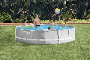 Intex 14ft x 42in Prism Frame Above Ground Pool for Sale in Commack, NY