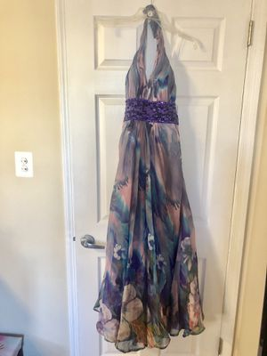 Purple prom dress with v-neck for Sale in Fairfax, VA