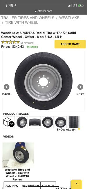 Brand new Trailer Synergy rim and tire for Sale in Los Angeles, CA