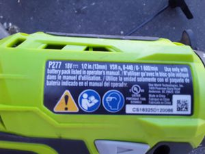 Ryobi cordless weedeater and 18volt lithium powered drill. for Sale in Phoenix, AZ