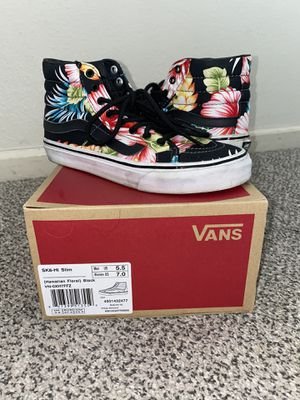 Women's Vans sz7 Hawaiian Floral $30 obo for Sale in Suisun City, CA