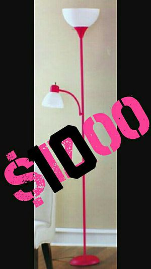 Pink floor lamp for Sale in San Bernardino, CA