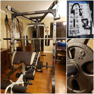 Marcy MD-9010G Home Gym w/ Weights. CAN DELIVER. PRICE FIRM. READ POST. for Sale in Houston, TX