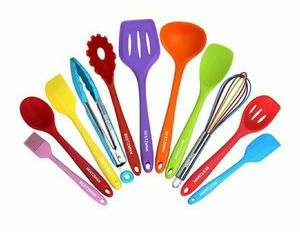 11 Cooking Utensils Set, Colorful Silicone Kitchen Utensils - Nonstick for Sale in Arlington, TX