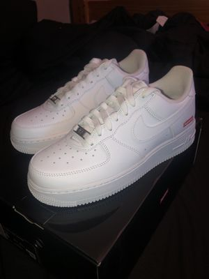 """Supreme/Nike Air Force 1 """"White"""" *Size 6* for Sale in Hobart, IN"""