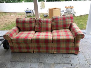 FREE plaid couch for Sale in Framingham, MA