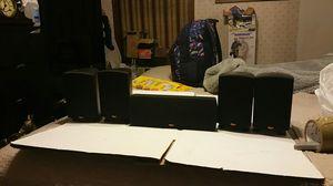 KLIPSCH QUINTET IV microsystem 5 piece system center four surround black speakers for Sale in Marietta, GA