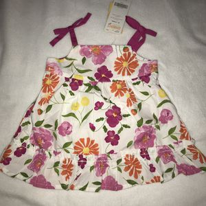 New NWT Gymboree white pink floral flowers dress diaper cover baby girl 0-3 months A022 for Sale in Whittier, CA