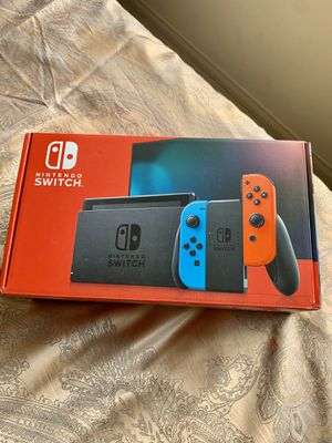 Nintendo Switch with Neon Blue & Neon Red Joy Con for Sale in Glendale, CA