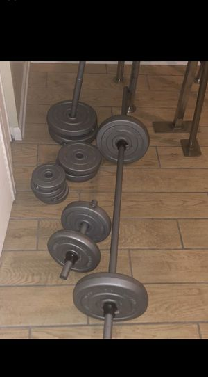 10 in 1 HOME GYM WITH WEIGHTS, STRAIGHT BAR, EZ CURL BAR for Sale in Chicago, IL