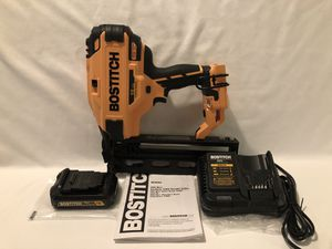Brand new never used Bostitch 20V brushless 16 gauge finish nailer set, with tool bag for Sale in Vacaville, CA