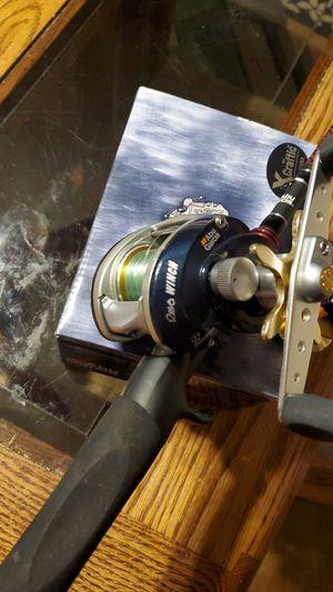 Abu garcia Revo winch om vendetta fishing rod for Sale in Joliet, IL