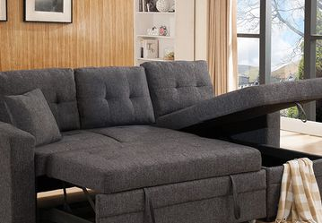 Brand new Grey Linen Fabric pull out Sectional Sofa with (Reversible) LIMITED STOCK for Sale in Claremont,  CA