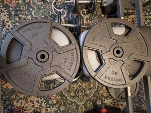 Weider HP50 50 lbs Heavy Duty Weight Plates with Standard Handles for Sale in Chicago, IL