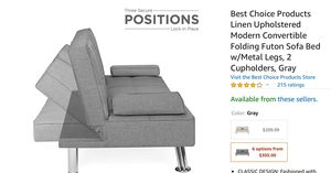 Gray Futon for Sale in Thornton, CO