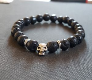 .NATURAL STONE - Skull Lava Rock Oil Essential Bracelet (healing,power,calm emotions, could have a lot of Health Benefits) for Sale in West Covina, CA