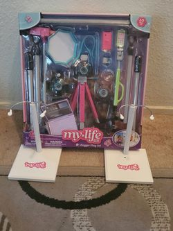 New My Life Doll Vlogger Set with 2 Doll Stands ($45 Value) for Sale in Ripon,  CA