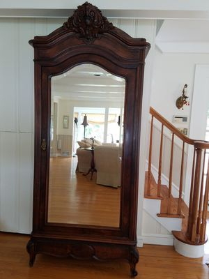 Antique French Lois XV Style Single Door Mirrored Armoire for Sale in Manasquan, NJ