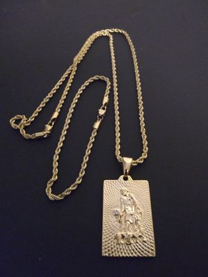 $70... Official look...14k gold-plated Rope link chain pendant and bracelet..... Shipping is available 🛫✈️🛬 or I deliver 🚗🏍️💭💭 for Sale in Hollywood, FL