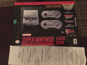 Snes classic Super Nintendo New with receipt $115 for Sale in San Diego, CA