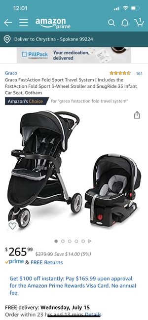 Snug fit car seat and stroller travel system for Sale in Spokane, WA