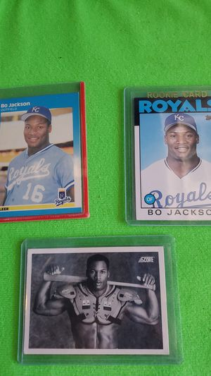 Lot of 3 BO JACKSON ROOKIES AND MORE all for $25 for Sale in Clovis, CA