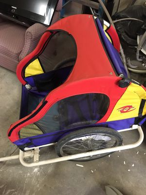 Kids bike trailer tow behind for Sale in Reedley, CA