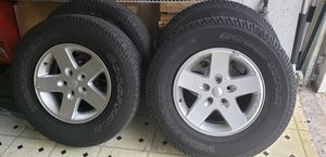 5 wheels and 5 tires original jeep wrangler jk 2008 to 2018 for Sale in Miami Gardens, FL