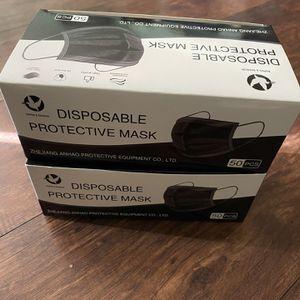 Face Mask Color Black 50 Ct for Sale in San Bernardino, CA