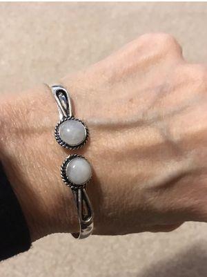 New moonstone sterling silver bangle/bracelet for Sale in HOFFMAN EST, IL