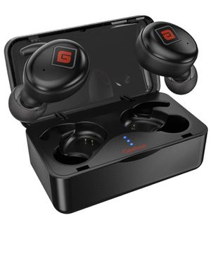 True Wireless Earbuds Bluetooth 5.0 Headphones [2019 Upgraded Version] Sports in-Ear TWS Stereo Mini Headset Deep Bass IPX5 Waterproof Low Latency In for Sale in Chino, CA