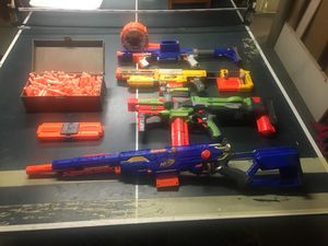 Nerf guns and all the magazines and over 70 bullets. for Sale in OSBORNVILLE, NJ
