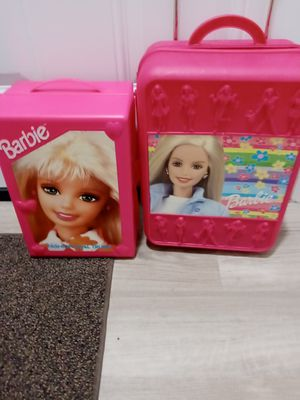 Barbie fashion doll trunk and Barbie wardrobe rolling suitcase for all your Barbie& Ken's clothes for Sale in Brandon, FL