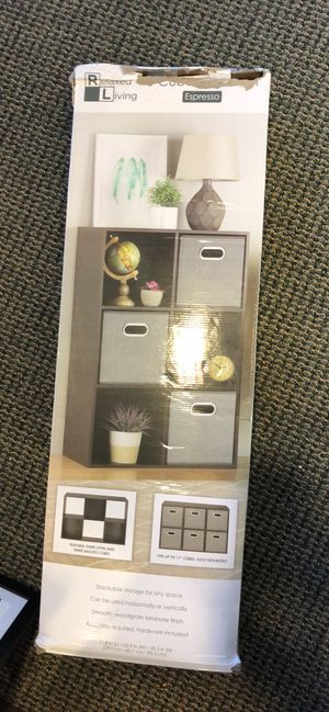 Relaxed living 6 cube bookshelf organizer storage shelf shelves for Sale in Rowlett, TX