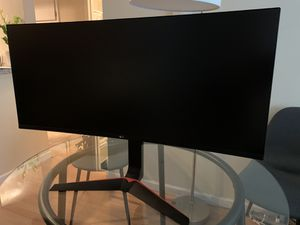 LG 34GL750-B 34 Inch 21: 9 Ultragear Curved Gaming Monitor for Sale in San Diego, CA