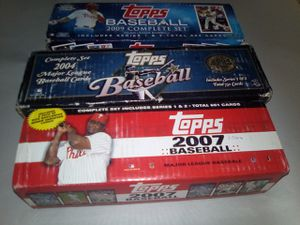 3 Complete sets of baseball cards for Sale in Phoenix, AZ